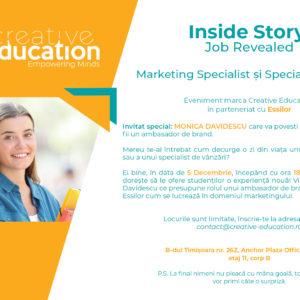Inside story: Job Revealed Marketing Specialist și Specialist Vânzări
