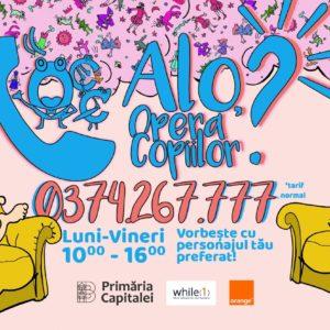 """""""Alo, Opera Copiilor?"""" o nouă campanie marca Opera Comică pentru Copii"""
